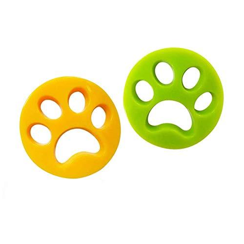 MELISEN Tierhaarentferner Haustier, Waschmaschine Haarentferner Wiederverwendbarer Pet Catcher Reinigung Ball Tierhaarentferner für Hundehaar, Katzenfell und alle Haustiere, 2 Stück