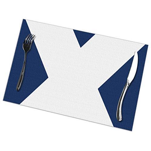 Bandera de Tenerife Nuevos tapetes de mesa Juego de 6 manteles individuales Antideslizantes resistentes al calor Alfombrillas de mesa fáciles de limpiar 12X18 pulgadas