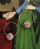 Pendientes Hechos a Mano de Bricolaje Pendientes de Perlas de Oro de 14K Pendientes de botón Vestidos de Boda/hospedaje con Regalos