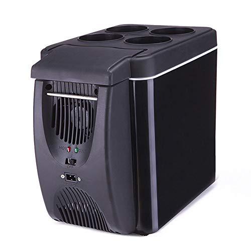 HBBBX Auto Kühlschrank Mini Gefrierschränke Kompressor Kühlbox geräuschlos klein elektrischer Reise Camping Zuhause Schlafzimmer tragbares 12V 6L warme kühle Box