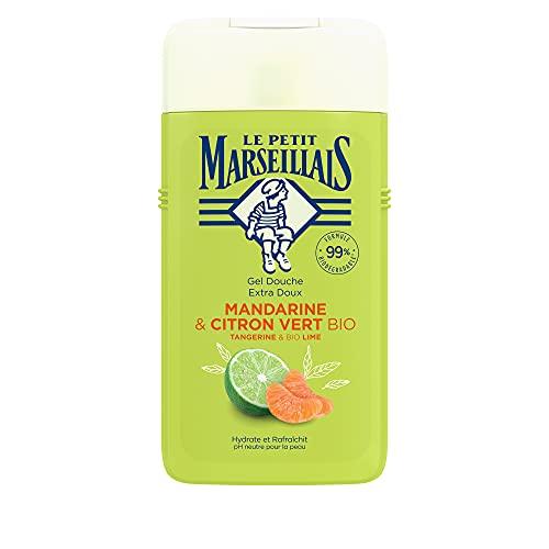 Le Petit Marseillais Duschgel Mandarine & Limette BIO(250ml), pH-hautneutrale Pflegedusche & sanfte Aromadusche mit besonders angenehmen Duft, spendet Feuchtigkeit und erfrischt
