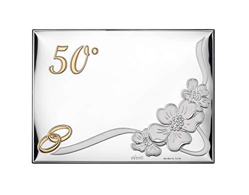 Placa 50 Aniversario 13x18 Personalizada Bodas de Oro