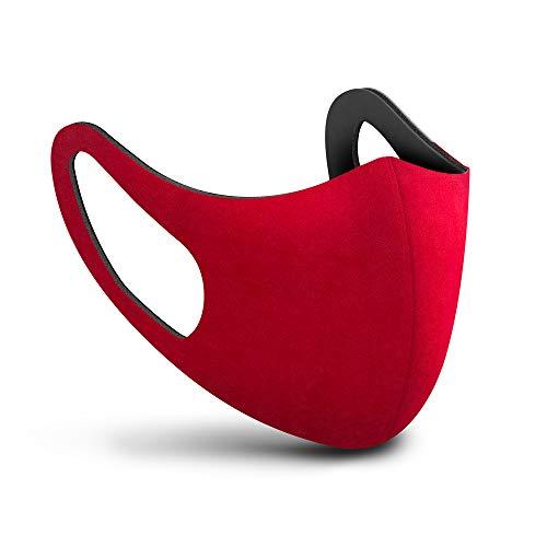 SPHERA mascherina lavabile adulto colore rosso Made in Italy mascherine lavabili chirurgiche classe I tipo I 15 lavaggi. Marcatura CE conforme EN 14683:2019 + AC:2019 Direttiva Europea 93/42/EEC