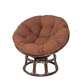 ACEMIC Coussin de Chaise Papaye en rotin, Coussins de Chaise papasan Ronds en Osier, épais et Confortables…
