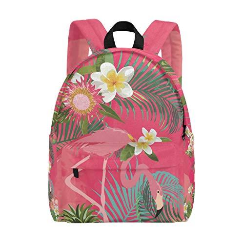Rucksack Rucksack Cartoon Tropical Flamingo Flower Daycare Perfekt für Schulreisen für Teen Boys Girls