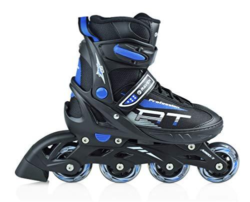 RAVEN Inline Skates Inliner Profession verstellbar (Black/Blue, 38-42(25cm-27,5cm))