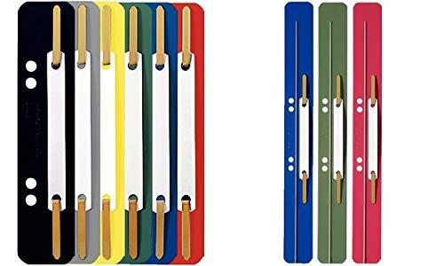 LEITZ Heftstreifen, 35 x 158 mm, PP-Folie, gelb, Sie erhalten 1 Packung, Packungsinhalt: 25 Stück