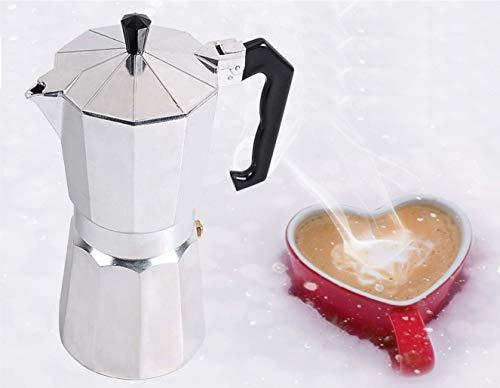 THW Aluminium Italian Espresso Coffee Maker/Filter Coffee Maker Percolator for 6 Cups of Coffee- Moka Pot, 300 ML