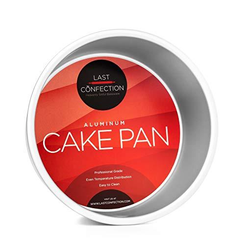 "Last Confection 7"" x 4"" Deep Round Aluminum Cake Pan - Professional Bakeware Colorado"