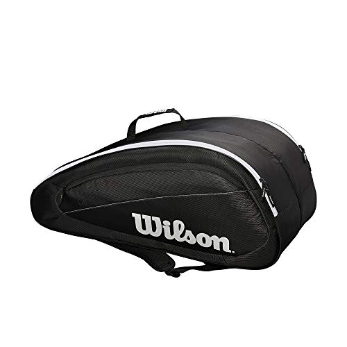 Wilson Fed Team 12 Pack, Borsa Unisex-Adult, Nero/Bianco, Small