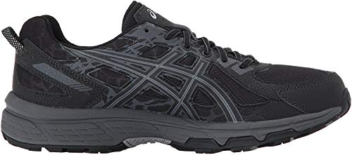 ASICS Men's Gel-Venture 6 Running Shoe, Black/Phantom/Mid Grey, 8 4E US