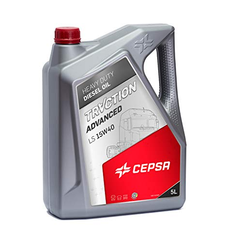 CEPSA 524033072 Traction Advanced LS 15W40 Huile Universel Destiné aux Moteurs Diesel Lourd, 5 L