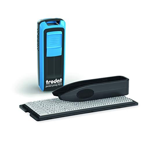 Trodat Pocket Printy 9511 Typo – Timbro DIY (fai da te) Tascabile Autoinchiostrante Fino a 3 Righe di Testo