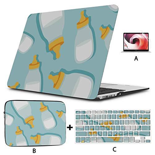 13 MacBook Case Cute Cartoon Beautiful Child Bottle 13 MacBook Pro Case Hard Shell Mac Air 11'/13' Pro 13'/15'/16' with Notebook Sleeve Bag for MacBook 2008-2020 Version