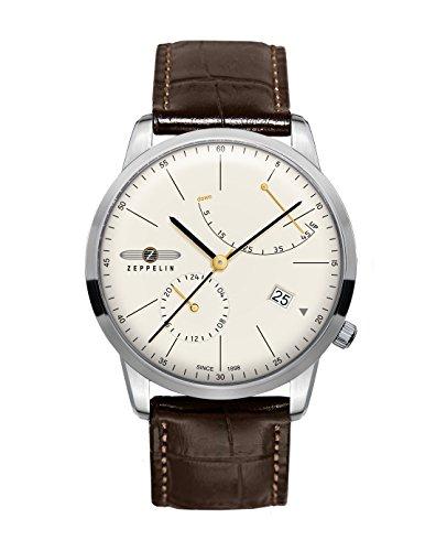 Zeppelin 7366-5 - Reloj para Hombres, Correa de Cuero Color marrón