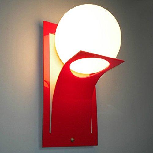 YYF Wandlampe Moderne Art und Weise spezielle Förderungen einfache moderne Wand-Lampe (Farbe : Rot)