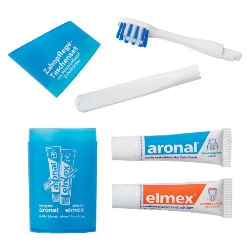 5Pack Elmex Zahnpflege-Taschenset (Reise-Zahnbürste und Zahnpasta) blau 5x 1 Stück