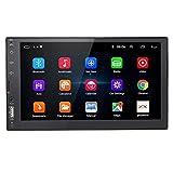 Radio Coche Bluetooth 2 DIN 7 Pulgadas Android 9.0 IPS Pantalla Táctil Autoradio con Cámara De Respaldo, Apoyo GPS/WiFi/Radio FM/Mirror Link/SWC,Negro,1+16G