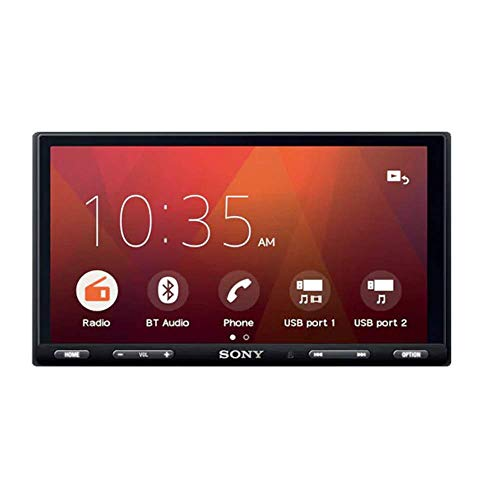 Sony XAV AX-5500 17.6-cm (6.95) Capacitive Touch Screen Bluetooth Media Receiver with Android Auto, Apple Car Play and WebLink