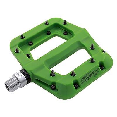 "FOOKER MTB Pedals Mountain Bike Pedals 3 Bearing Non-Slip Lightweight Nylon Fiber Bicycle Platform Pedals for BMX MTB 9/16"""
