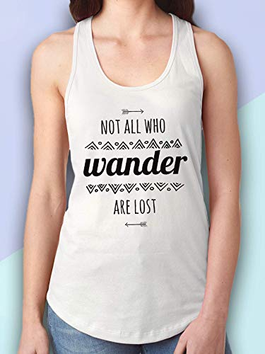 Not All Who Wander Are Lost Tank Top - JRR Tolkien Tank Top - Lord of the Rings Tank Top - Inspirational Quote Tank Top - Boho Clothing Women - Boho Tops Women - Bohemian Tank Tops Women