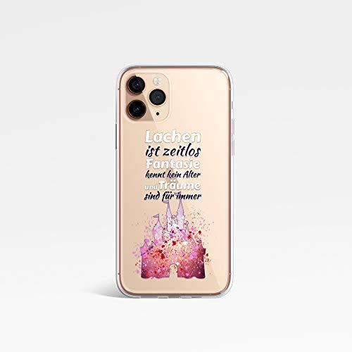 iOutlet Disney-Stil Charakter Fan Art Splatter KLAR Silicone handyhülle Telefonhülle für Galaxy S9 PINK Castle Quote