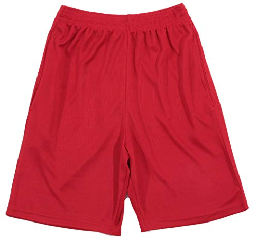 At The Buzzer Boys Athletic Shorts 77726-RED-10-12
