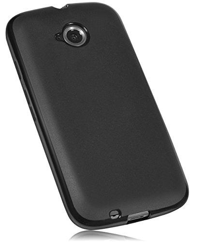 mumbi Hülle kompatibel mit Motorola Moto E2 Handy Hülle Handyhülle, schwarz