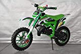 Mini Pitbike con motor de 49cc de 2 tiempos, XTM TEAM cross. Mini dirt bike. Moto de mini cross (Verde)