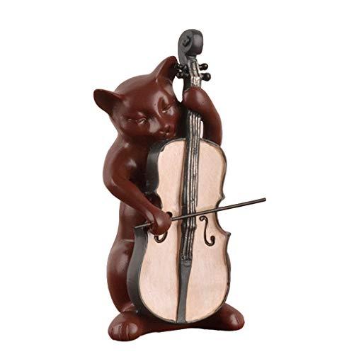 WYBFZTT-188 Resina Moderna Escultura Abstracta Decoración Animales Creativos Modelo de Instrumento Musical Obra Decorativa TV Gabinete Artesanía Adornos