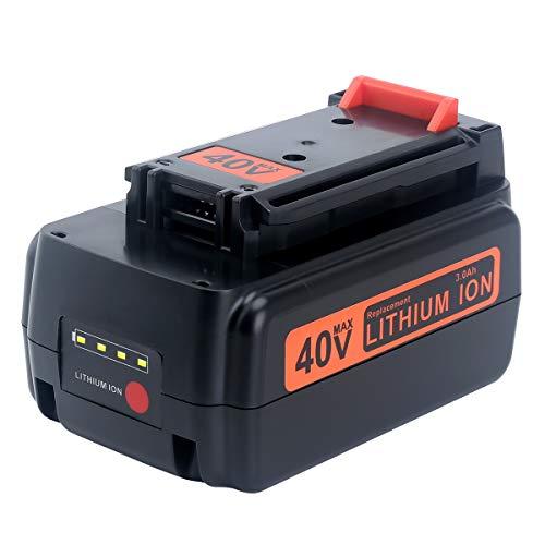Epowon 3000mAh 40Volt Battery for Black&Decker 40V MAX Lithium ion LBX2040 LBX36 LBXR36 LBXR2036 Cordless Power Tool