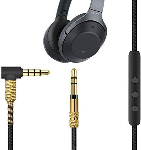 Nicecool Câble audio microphone pour casque Sony WH-1000XM3 WH-CH700N WH-H900N WH-1000XM2 / Beats Solo 3/ B&O H9i 4,9', compatible avec voiture AUX 3,5 mm-3,5 mm mâle vers mâle