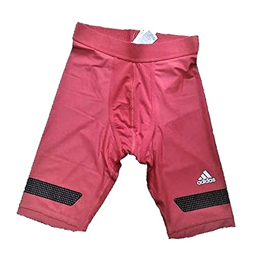 adidas Techfit Compression Chill - Mallas deportivas para hombre, ajustadas con Climachill Red, talla XL