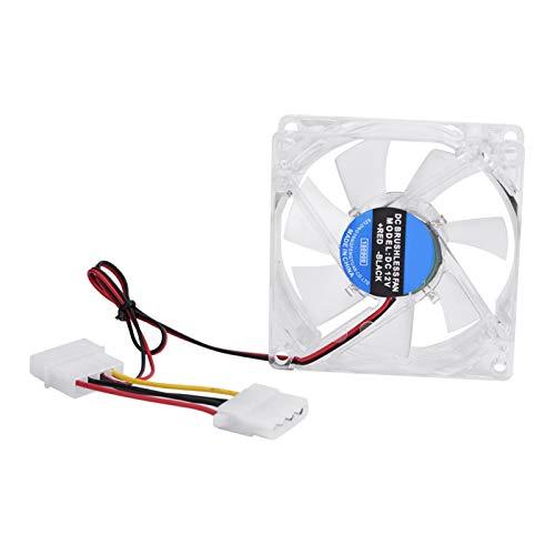 CCYLEZ Tonysa - Ventilador de Caja de PC Mute estándar de 80 mm, Ventilador de Ruido ultrabajo |Enfriador silencioso con luz LED 12V 4Pin para computadora Azul(Azul)