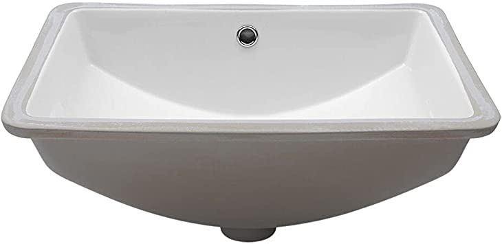 Undermount Bathroom Sink Mocoloo 20x15 Rectangle Porcelain White Vessel Sink 7 5 Inch Deep Curved Bottom With Overflow Small Square Lavatory Vanity Sink Mounted Under The Counter Amazon Com