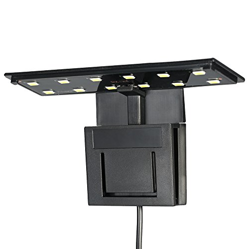 Weehey 5W Ultra-dünne Aquarium LED-Licht Ultra Bright Clip-on Beleuchtung Lampe 12 LEDs für Aquarium