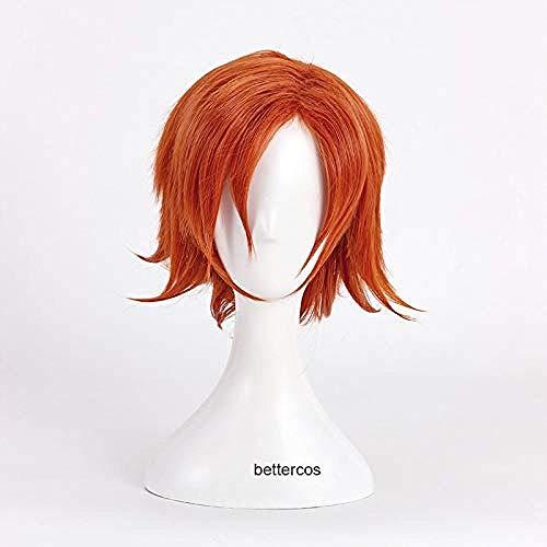 Pelucas de Cosplay RWBY Nora Valkyrie, peluca corta de pelo sinttico naranja resistente al calor + gorro de peluca