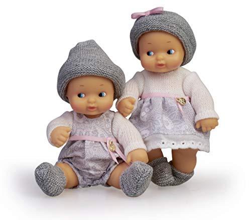 los Barriguitas-700015789 Bebés Gemelos, muñeca Twins niño y niña, Color Mixto (Famosa 700015789)