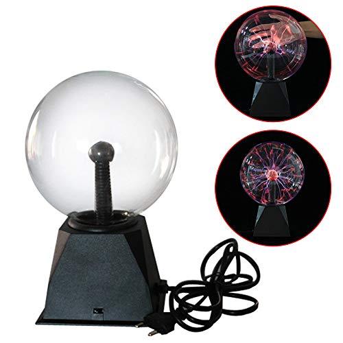 Winbang Lámpara de Bola de Plasma, USB Bola Estática Cristal Lightning Sonido Controlado