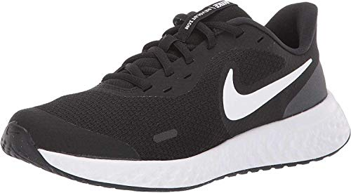 NIKE Revolution 5, Zapatillas Unisex Adulto, Negro (Black White Anthracite), 38.5 EU