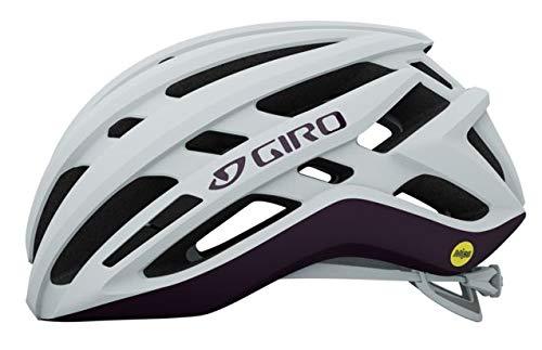 Giro Agilis MIPS 2021 - Casco de ciclismo para mujer (talla S, 51-55 cm), color blanco y morado
