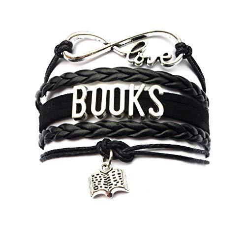DOLON Infinity Love Books Bracelet Jewelry Graduation Writers Author Book Lover Gift