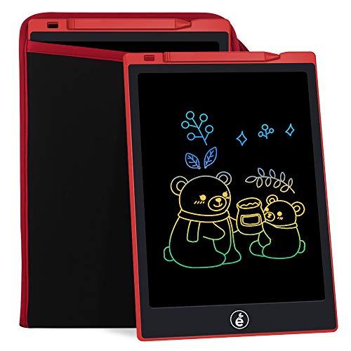 Sunany LCD Tablero de Escritura Tablero de Dibujo para Niños con Pantalla a Color de 11 Pulgadas, Tablero de Dibujo para Niños con Pantalla LCD, Puede Escribir y Dibujar Repetidamente (Rojo)