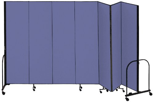 Sale!! Screenflex Commercial Portable Room Divider (CFSL807-DS) 8 Feet High by 13 Feet 1 Inches Long, Designer Blue Fabric