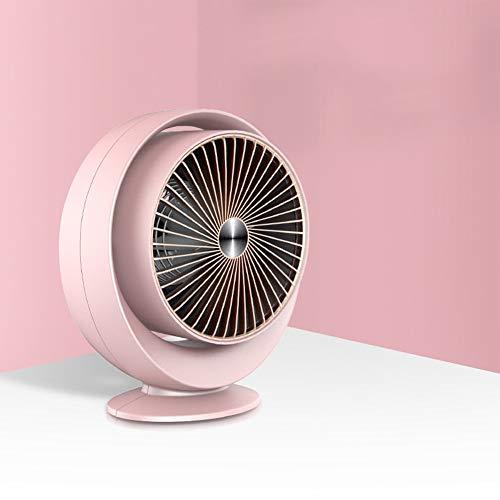 ZYCH Calefacción Calefactor con Ventilador Eléctrico Termostato Regulable,800W,Calefactor Eléctrico,Mini Calefactor Baño,Apagado Automático,Calentador Habitación,Calefacción Calentador (Color : Pink)