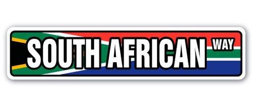 qidushop - Placa decorativa de metal para pared, diseño de bandera sudafricana de la nación nacional del orgullo país de la nación africana, 10 x 45 cm