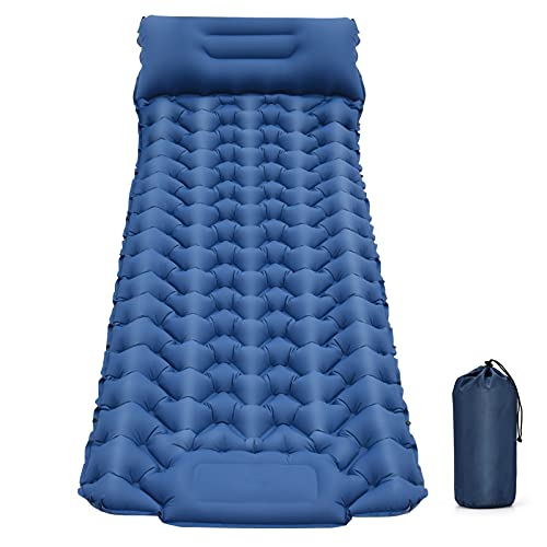 Camping Sleeping Pad, Backpacking Self Inflating Mat for Tents, Ultralight Large Air Mattress for Outdoor Tent Campers, Teens & Adults(Only a Single Cot Bed, No Other Gear, Equipment or Accessories)
