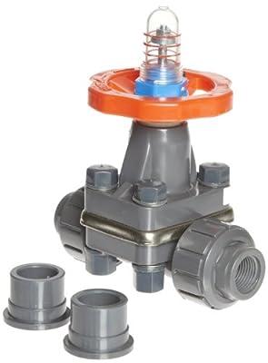 """Hayward PVC Diaphragm Valves, FPM Seal, 1/2"""" Socket/Threaded from Hayward"""