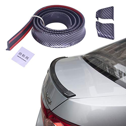 X AUTOHAUX 59 Gloss Blue Car Rear Spoiler Wing Rubber Lip Tail Trunk Roof Trim Sticker