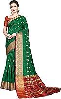 COTTON SHOPY Women's Banarasi Silk & Cotton Saree With Blouse Piece